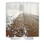 Ice Fog In Cypress Hills Provincial Park Of Saskatchewan Shower Curtain
