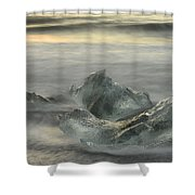 Ice In The Surf Shower Curtain