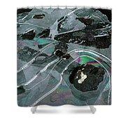 1. Ice Prismatics, Loch Tulla Shower Curtain