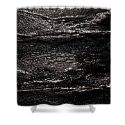 Ice Texture Abstract Shower Curtain