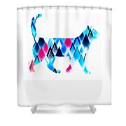 Ice Triangles Cats Shower Curtain