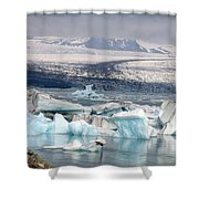 Iceland Glacier Lagoon Shower Curtain
