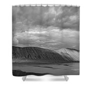 Iceland Mountains Panorama Shower Curtain