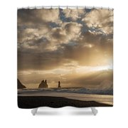 Icelandic Seascape Shower Curtain