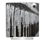 Icicles At Attention Shower Curtain