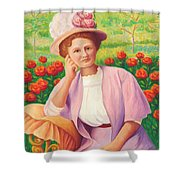 Ida In The Garden Shower Curtain