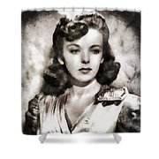 Ida Lupino, Vintage Actress Shower Curtain