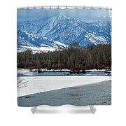 Idaho Winter River Shower Curtain