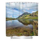 Idwal Lake Snowdonia Shower Curtain by Adrian Evans