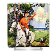 Illinois Mississippi Restored Vintage Poster Shower Curtain