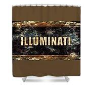 Illuminati Pop Art By Mary Bassett Shower Curtain