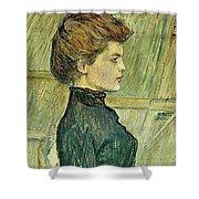 img296 Henri De Toulouse-Lautrec Shower Curtain