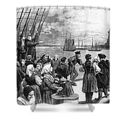 Immigrants On Ship, 1887 Shower Curtain