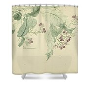 Impatiens Shower Curtain