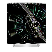In Color Abstract 11 Shower Curtain