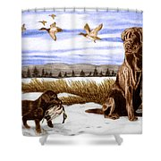 In Training Shower Curtain