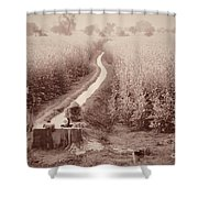 India Laundry In Canal Shower Curtain