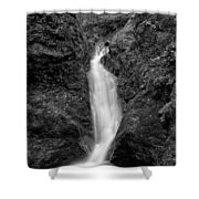 Indian Well Flows Bw Shower Curtain