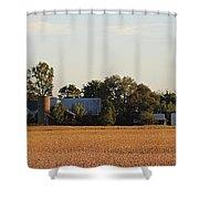 Indiana Farmland  Shower Curtain