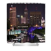 Indianapolis Canal View Shower Curtain