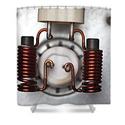 Inductors Shower Curtain
