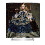 Infanta Margarita Teresa In A Blue Dress Shower Curtain