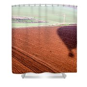 inflated Hot air balloon Shower Curtain