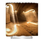 Inside Violin Shower Curtain