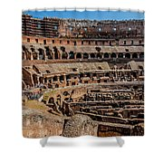 Interior Of The Coliseum, Rome, Italy Shower Curtain