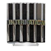 International Semi Truck Emblem Shower Curtain