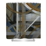 Intersection In Blue 4 Shower Curtain