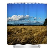 Into The Grasslands. Shower Curtain