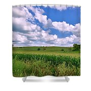 Iowa Cornfield Shower Curtain