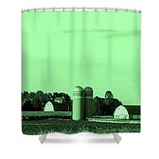 Iowa Farm Panorama Shower Curtain