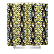 Iron Chains With Glazed Tiles Seamless Texture Shower Curtain