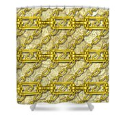 Iron Chains With Money Seamless Texture Shower Curtain