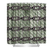 Iron Chains With Wood Seamless Texture Shower Curtain