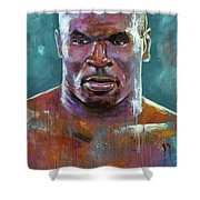Iron Mike Shower Curtain by Robert Phelps