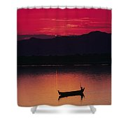 Irrawaddy River Shower Curtain