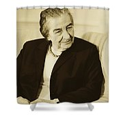 Israel Prime Minister Golda Meir 1973 Shower Curtain