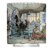 Istanbul Cafe Shower Curtain