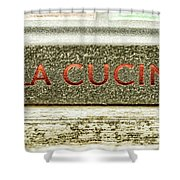 Italian Cooking Shower Curtain