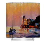 Italy - Trieste Gulf Shower Curtain
