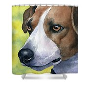 Jack Russel Terrier Shower Curtain