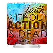James 2 17 Shower Curtain