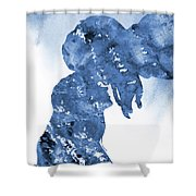 Jane And Tarzan-blue Shower Curtain