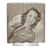 Janet Leigh, Vintage Actress Shower Curtain