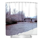 January Winter Day In England  Shower Curtain