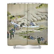 Japan: Cotton Processing Shower Curtain by Granger