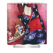 Japanese Girl Shower Curtain